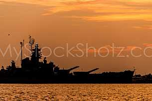 Battleship Mobile Skyline - Sunset