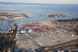 Container Terminal aerial - Port of Mobile