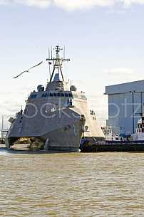 Navy LCS Independence Leaving shipbuilder Austal March 2010