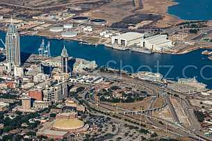 Aerial - Downtown, Fort Conde, Austal
