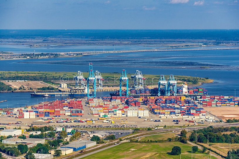 Container Terminal - Mobile Alabama by air