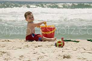 Beach Boy Playing