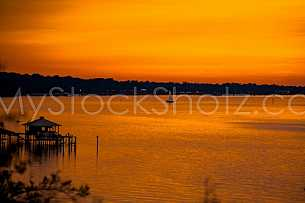 Mobile Bay Sunset - Montrose Alabama