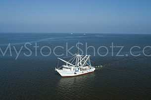Shrimp Boat in Mobile Bay west of the Eastern Shore