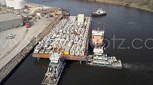 Barges transporting relief to Puerto Rico after Hurricane Maria