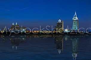 Mobile, Alabama Skyline at Night