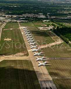 Boeing 777's on Runway 18/36 - storage during Covid-19 situation