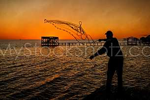 Cast Net on Mobile Bay