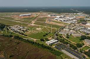 Aerial of Brookley Airport