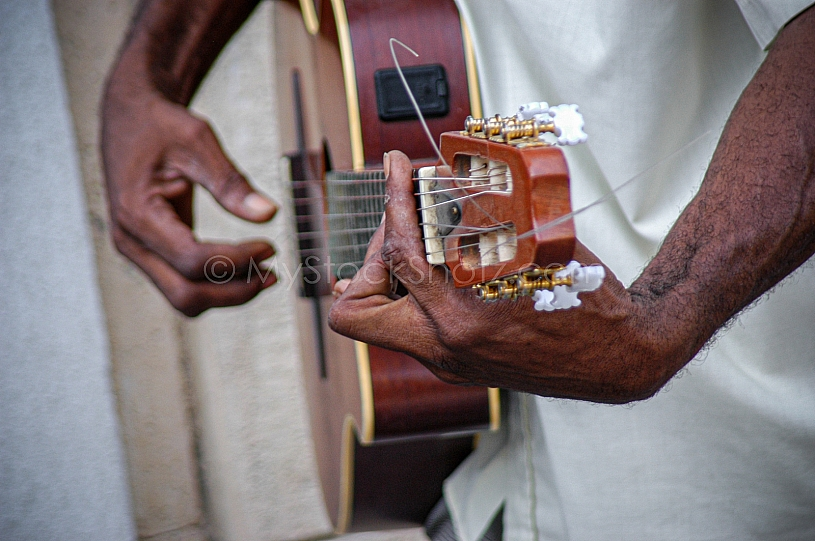 Guitar Player in Havana, Cuba