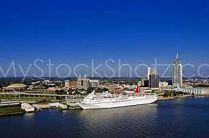 Carnival Elation - docked in Mobile, Alabama