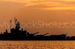 Battleship Mobile Skyline - Sunset