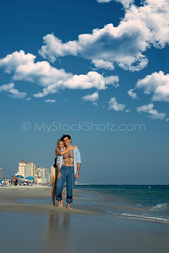 Loving Beach Couple