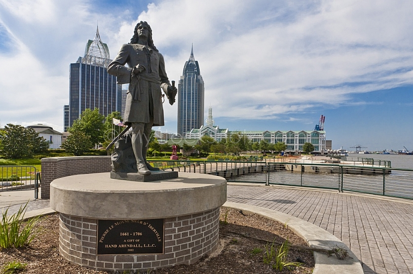 D'Iberville Statue at Cooper Riverside Park