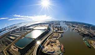 Aerial Mobile River State Docks