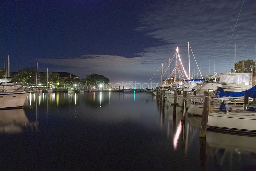 Marina at night - Marriott Grand hotel