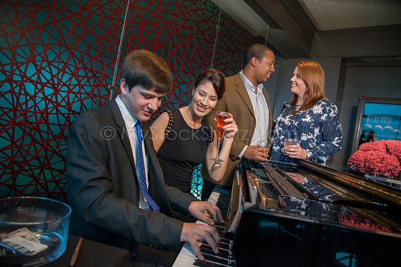 Piano at the bar