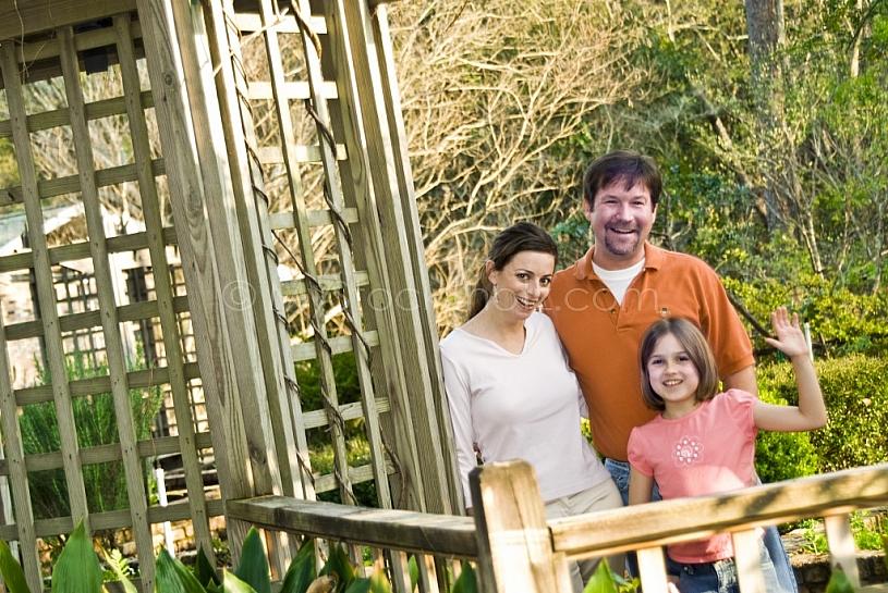 Family at Mobile Botanical Gardens