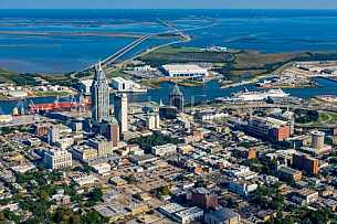 Mobile Alabama by air