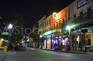 Dauphin Street - Downtown Mobile at night