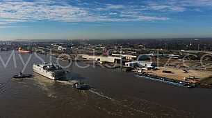 Austal ship leaving for sea trial