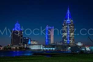 Mobile Skyline in Blue