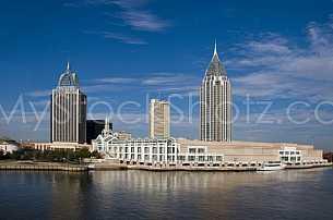 Mobile Alabama Convention Center Skyline
