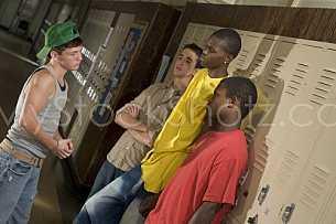 Rough school kids