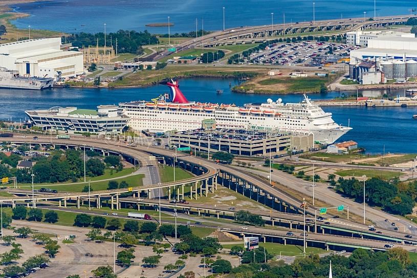 Carnival Fantasy & Alabama Cruise Terminal aerial