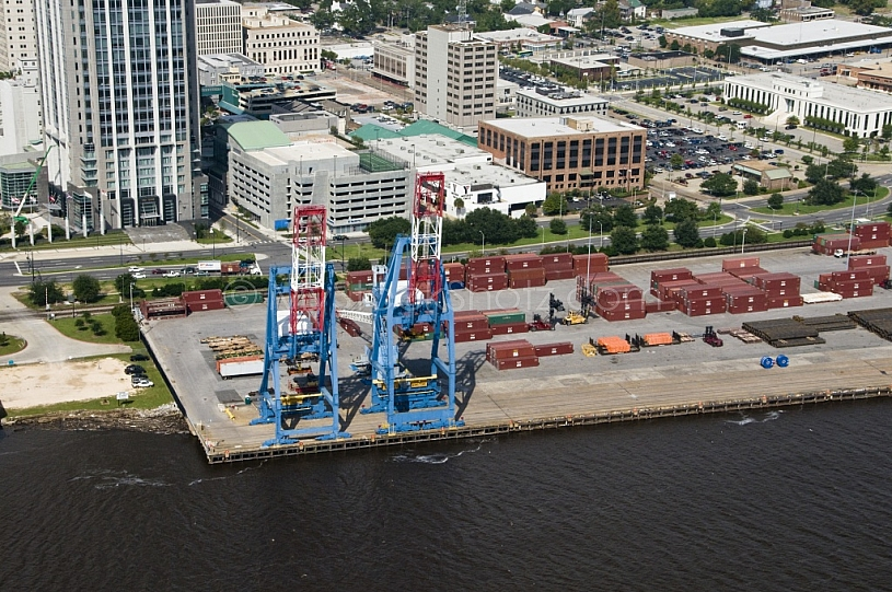 State Docks Aerial