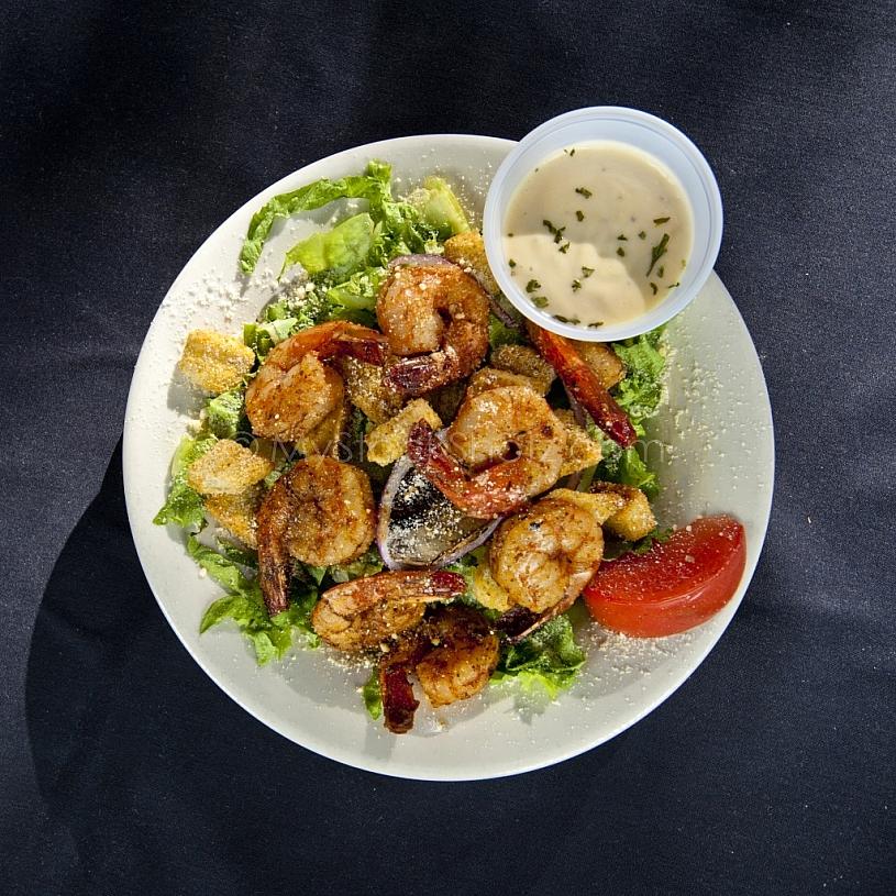 Blackened Shrimp Caesar Salad at Spot of Tea
