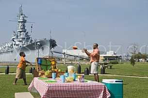 Family at USS Alabama Battleship Park
