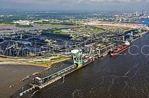 Coal Yard aerial in Mobile Alabama