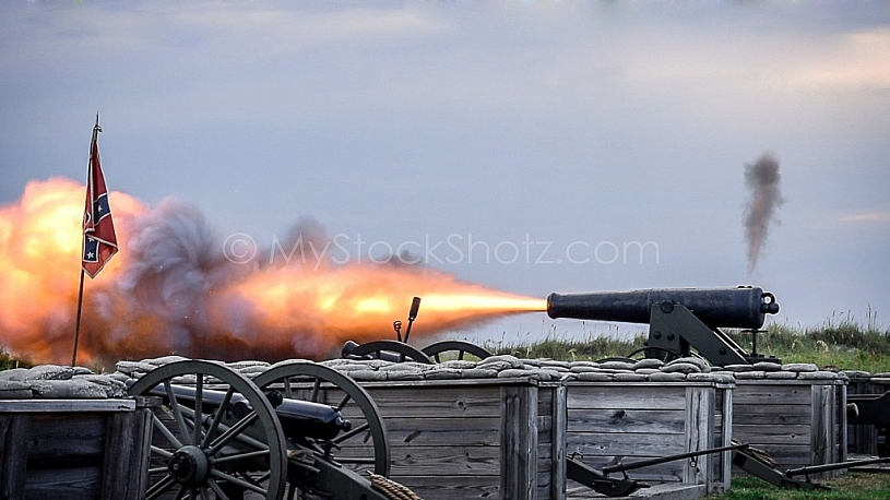 Canon Blast at Fort Morgan