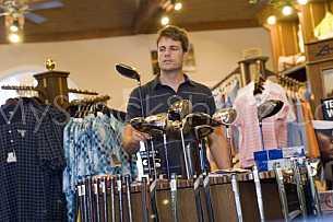 Golf shop shopping