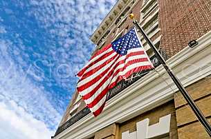 Battle House Hotel with flag