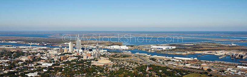 Panoramic view of Mobile Alabama