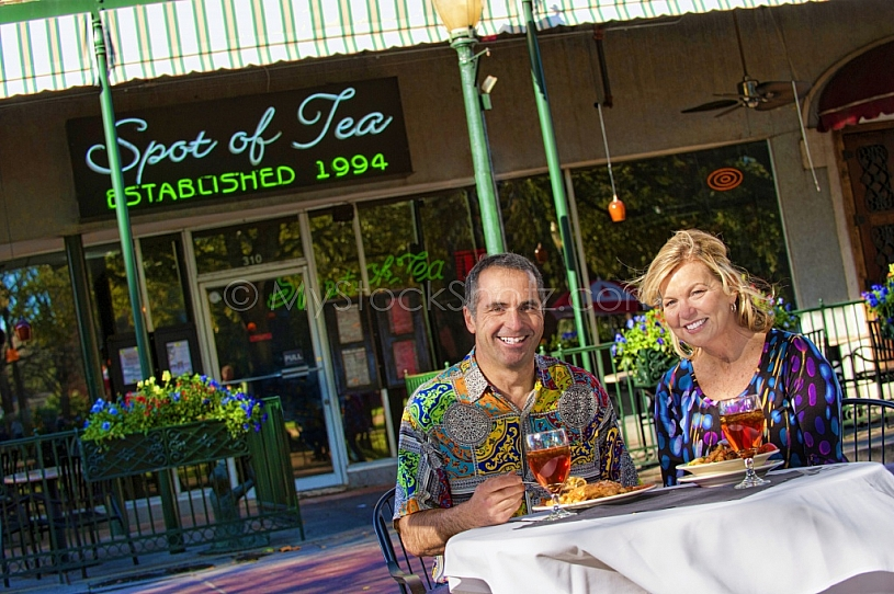 Outside Dining at Spot of Tea - Dauphin Street - Downtown Mobile