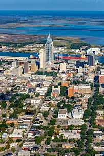 Mobile Alabama - vertical by air