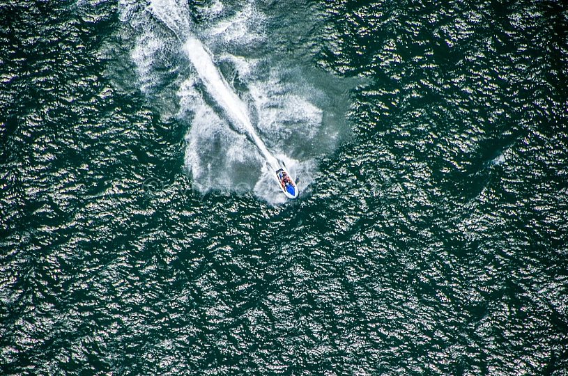 Jet skiing in Gulf of Mexico